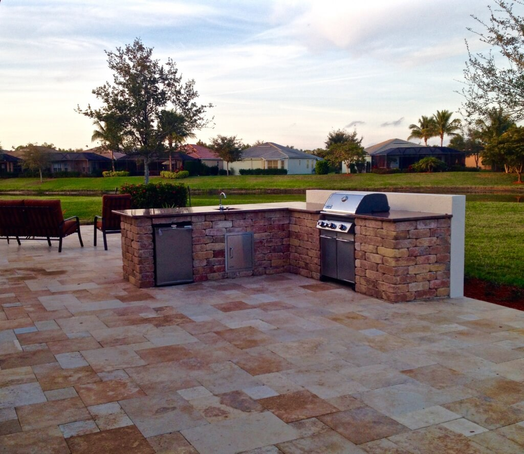 Outdoor kitchen designs lombardo landscaping - Rustic outdoor kitchen designs simple means functional ...